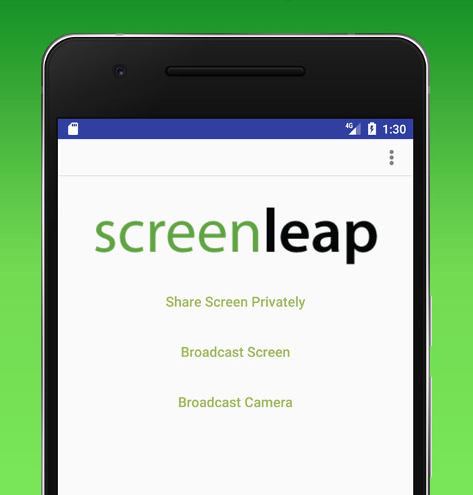 Share Your Screen On Android Device Using Screenleap for Android app