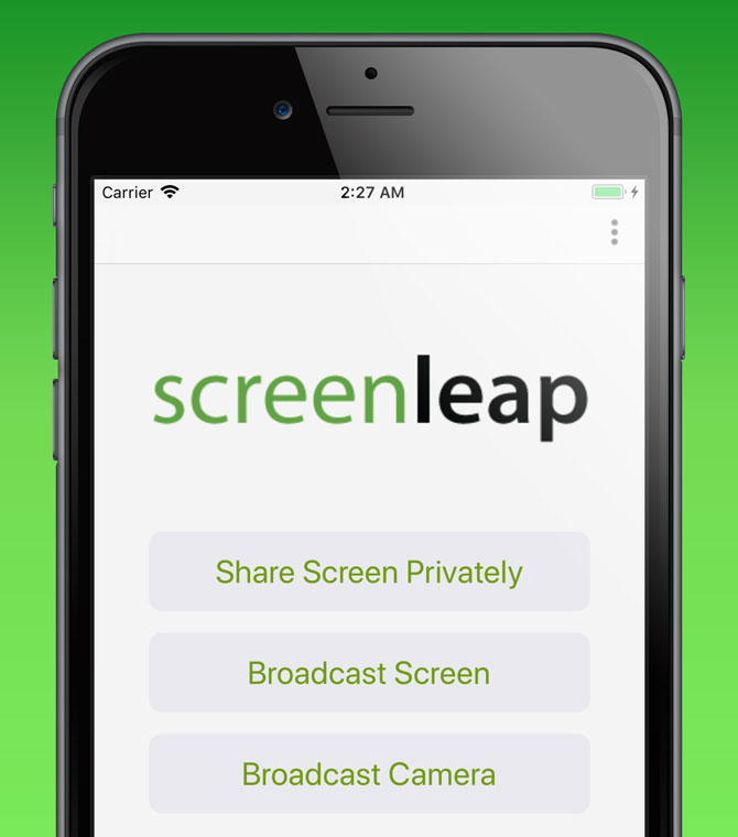 Share Your Screen On iOS Device Using Screenleap for iOS app